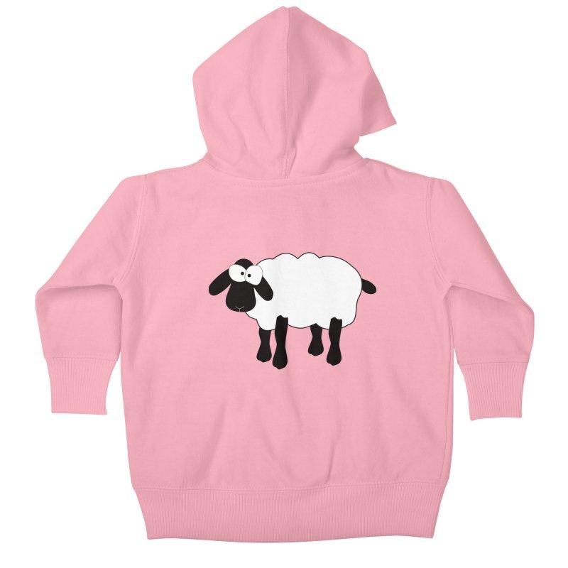 Funny Sheep Kids Baby Zip-Up Hoody by buxmontweb's Artist Shop