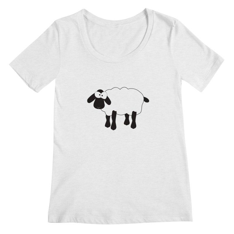 Funny Sheep Women's Regular Scoop Neck by buxmontweb's Artist Shop