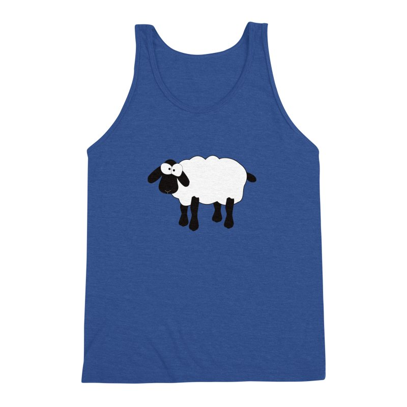 Funny Sheep Men's Triblend Tank by buxmontweb's Artist Shop