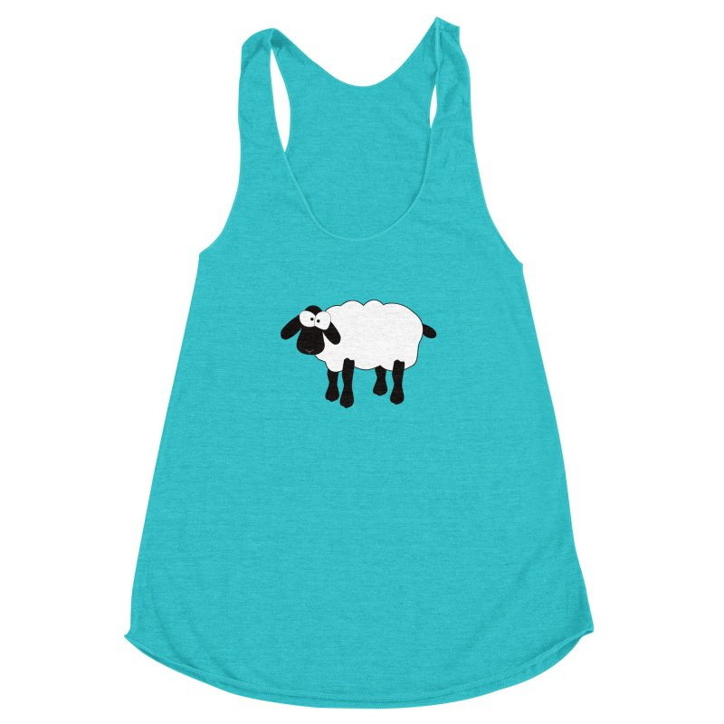 Funny Sheep Women's Racerback Triblend Tank by buxmontweb's Artist Shop
