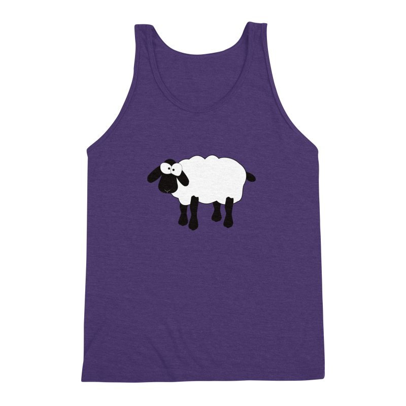 Funny Sheep Men's Triblend Tank by buxmontweb's Artist Shop