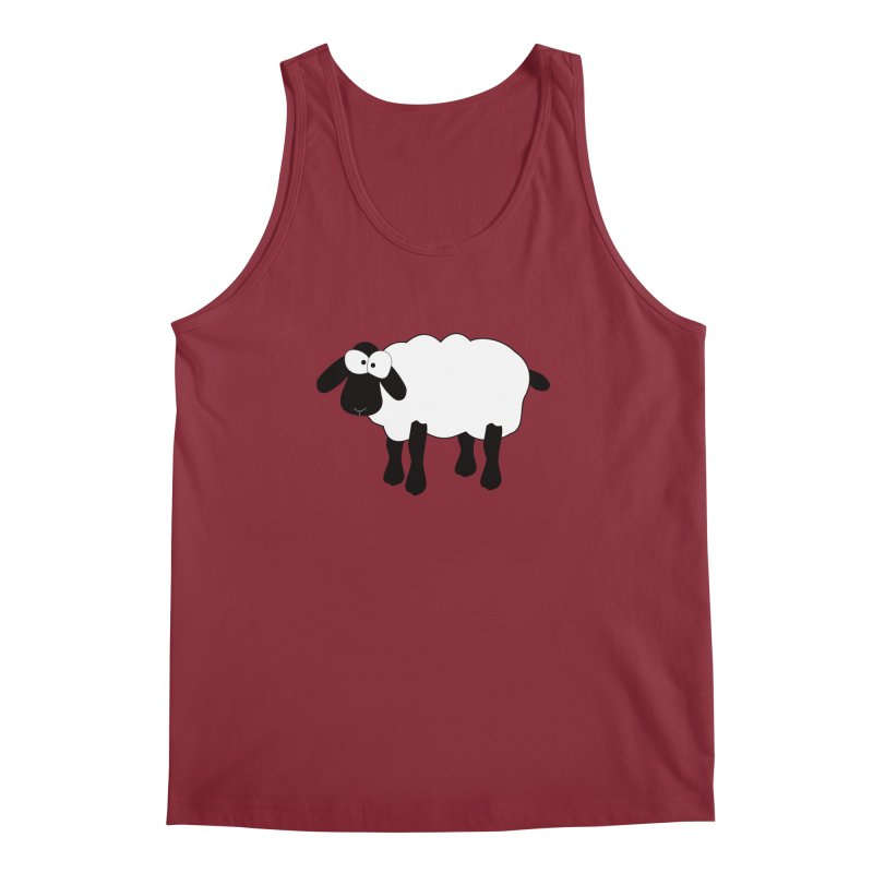 Funny Sheep Men's Regular Tank by buxmontweb's Artist Shop