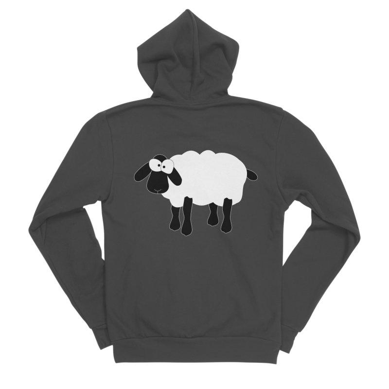 Funny Sheep - for dark fabric Men's Sponge Fleece Zip-Up Hoody by buxmontweb's Artist Shop