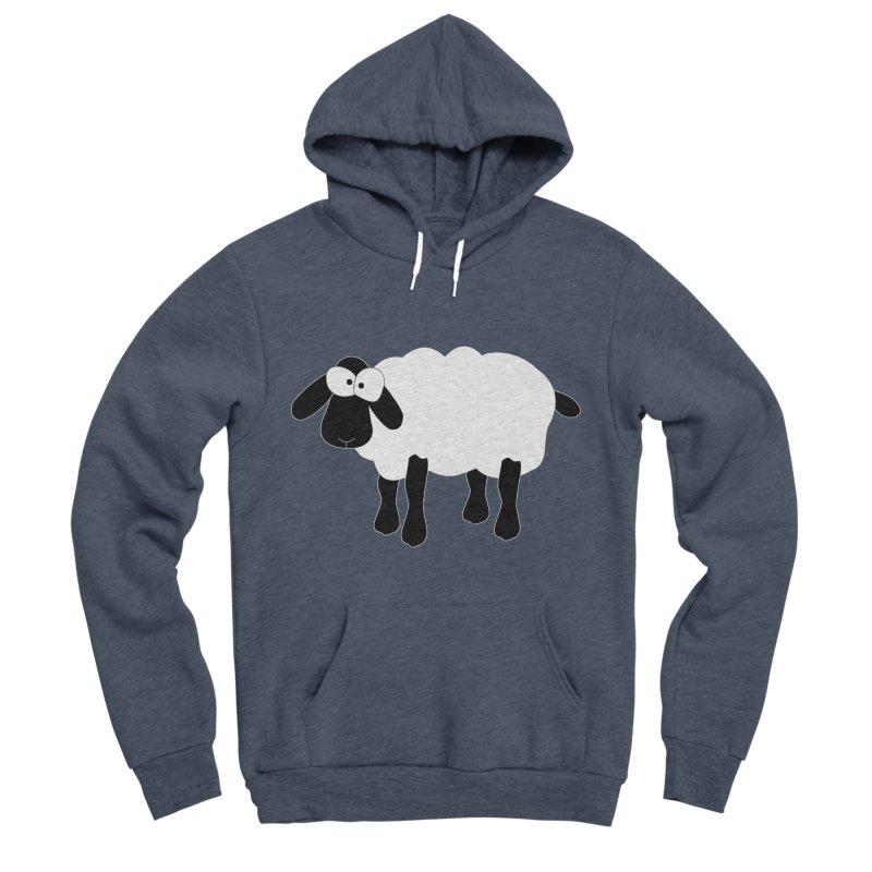 Funny Sheep - for dark fabric Men's Sponge Fleece Pullover Hoody by buxmontweb's Artist Shop