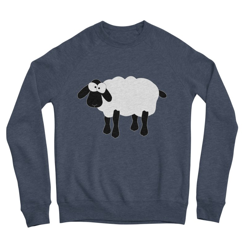 Funny Sheep - for dark fabric Men's Sponge Fleece Sweatshirt by buxmontweb's Artist Shop