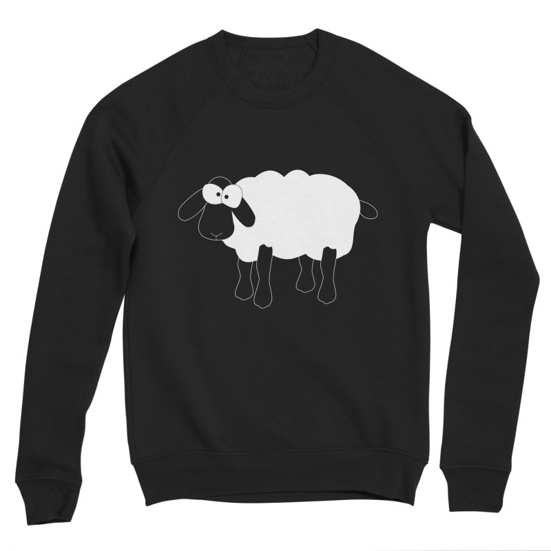 Funny Sheep - for dark fabric Men's Sponge Fleece Sweatshirt by buxmontweb's Artist Shop
