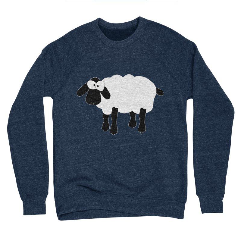 Funny Sheep - for dark fabric Women's Sponge Fleece Sweatshirt by buxmontweb's Artist Shop