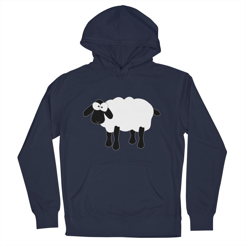 Funny Sheep - for dark fabric Women's French Terry Pullover Hoody by buxmontweb's Artist Shop