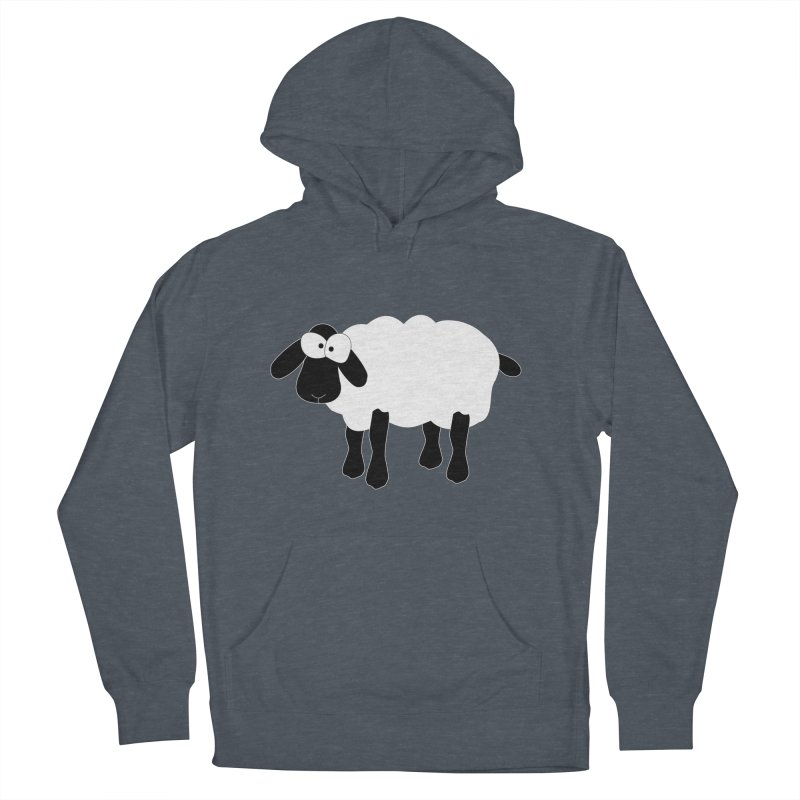 Funny Sheep - for dark fabric Men's French Terry Pullover Hoody by buxmontweb's Artist Shop