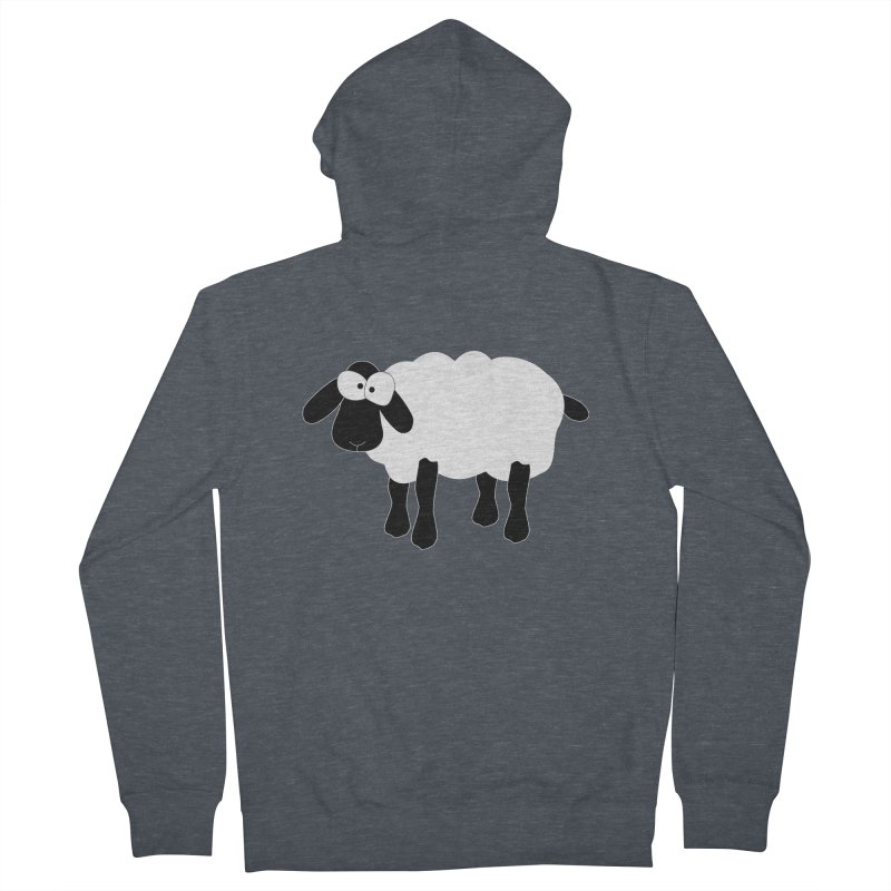 Funny Sheep - for dark fabric Men's French Terry Zip-Up Hoody by buxmontweb's Artist Shop