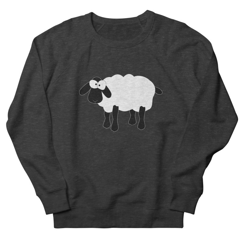 Funny Sheep - for dark fabric Men's French Terry Sweatshirt by buxmontweb's Artist Shop