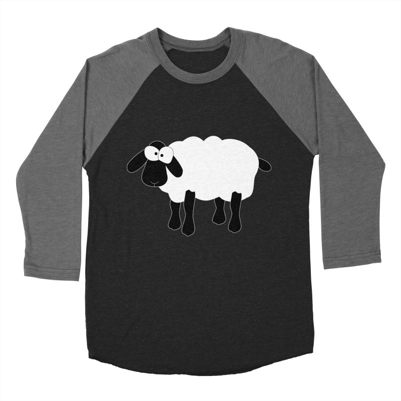 Funny Sheep - for dark fabric Men's Baseball Triblend Longsleeve T-Shirt by buxmontweb's Artist Shop