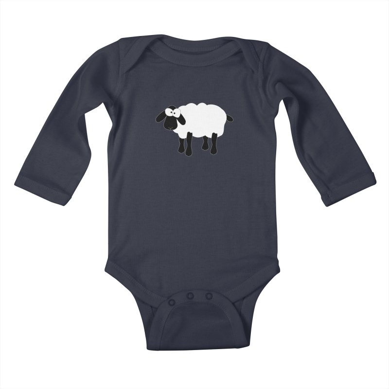 Funny Sheep - for dark fabric Kids Baby Longsleeve Bodysuit by buxmontweb's Artist Shop