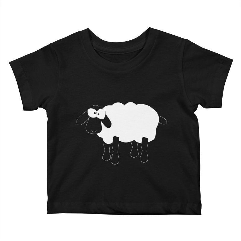 Funny Sheep - for dark fabric Kids Baby T-Shirt by buxmontweb's Artist Shop