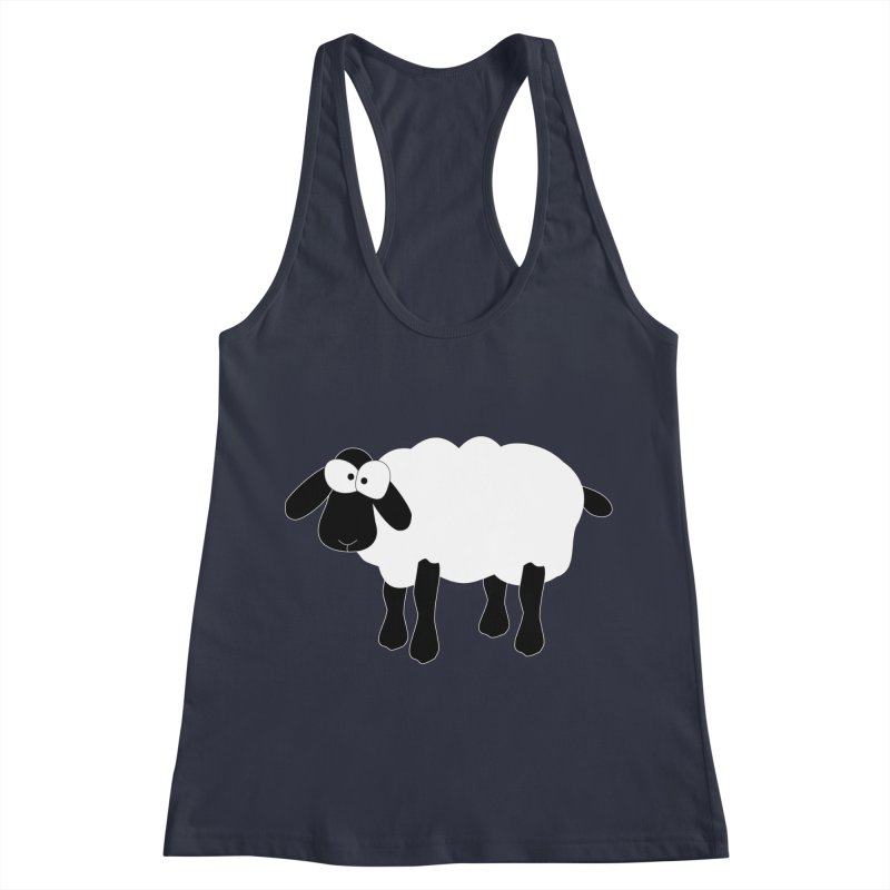 Funny Sheep - for dark fabric Women's Racerback Tank by buxmontweb's Artist Shop