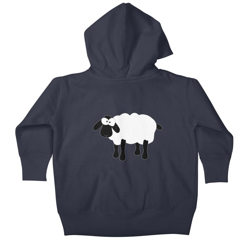 Funny Sheep - for dark fabric Kids Baby Zip-Up Hoody by buxmontweb's Artist Shop