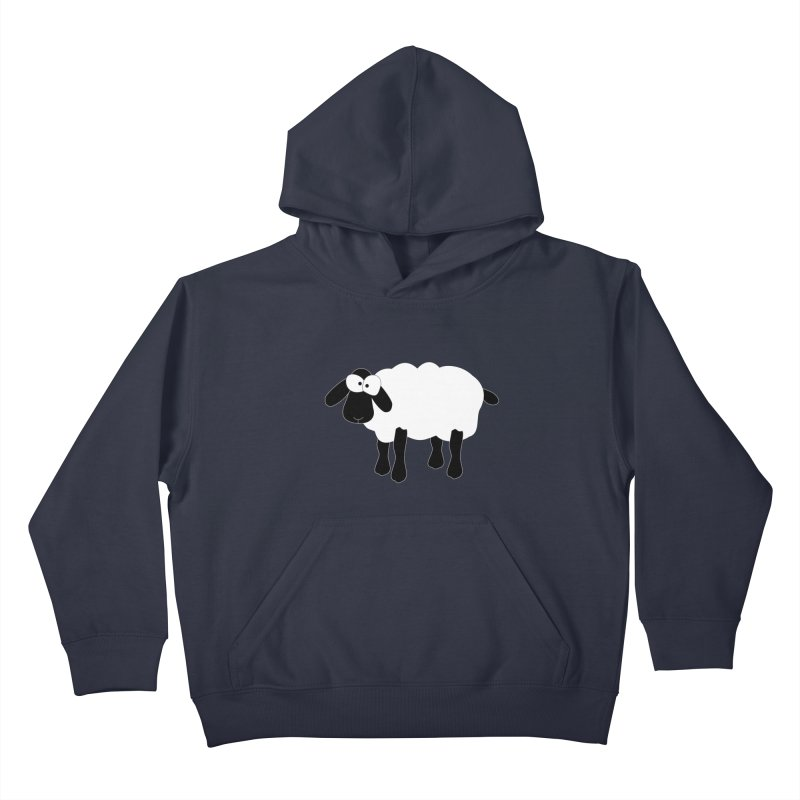 Funny Sheep - for dark fabric Kids Pullover Hoody by buxmontweb's Artist Shop
