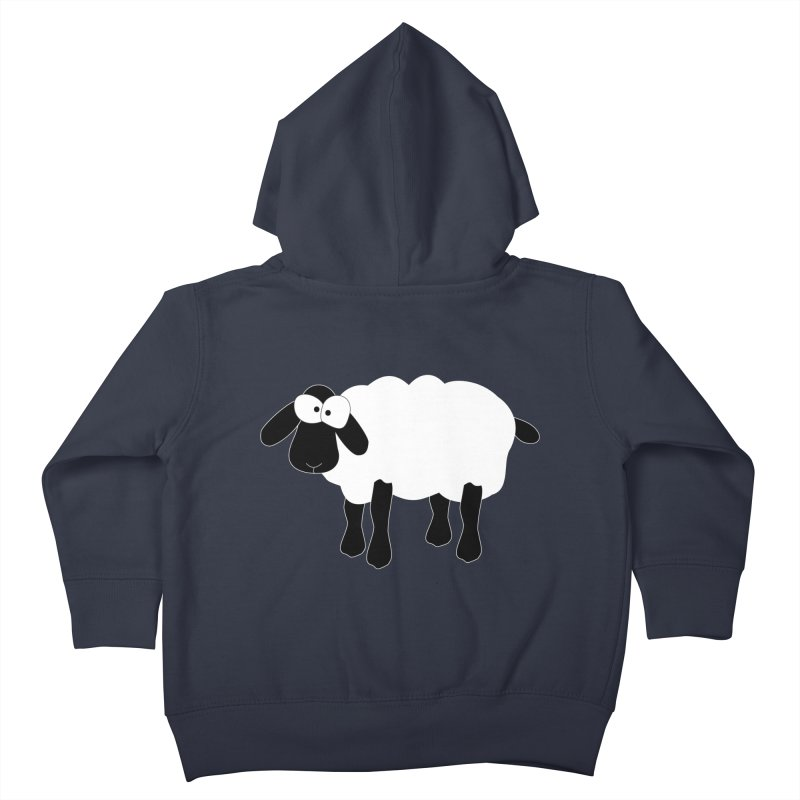 Funny Sheep - for dark fabric Kids Toddler Zip-Up Hoody by buxmontweb's Artist Shop