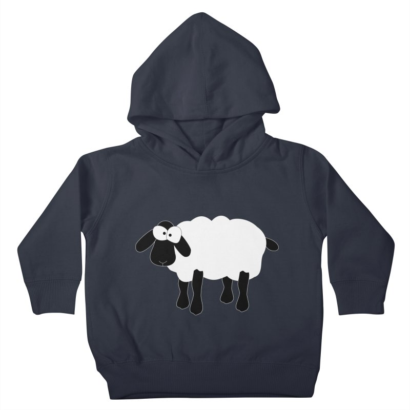 Funny Sheep - for dark fabric Kids Toddler Pullover Hoody by buxmontweb's Artist Shop