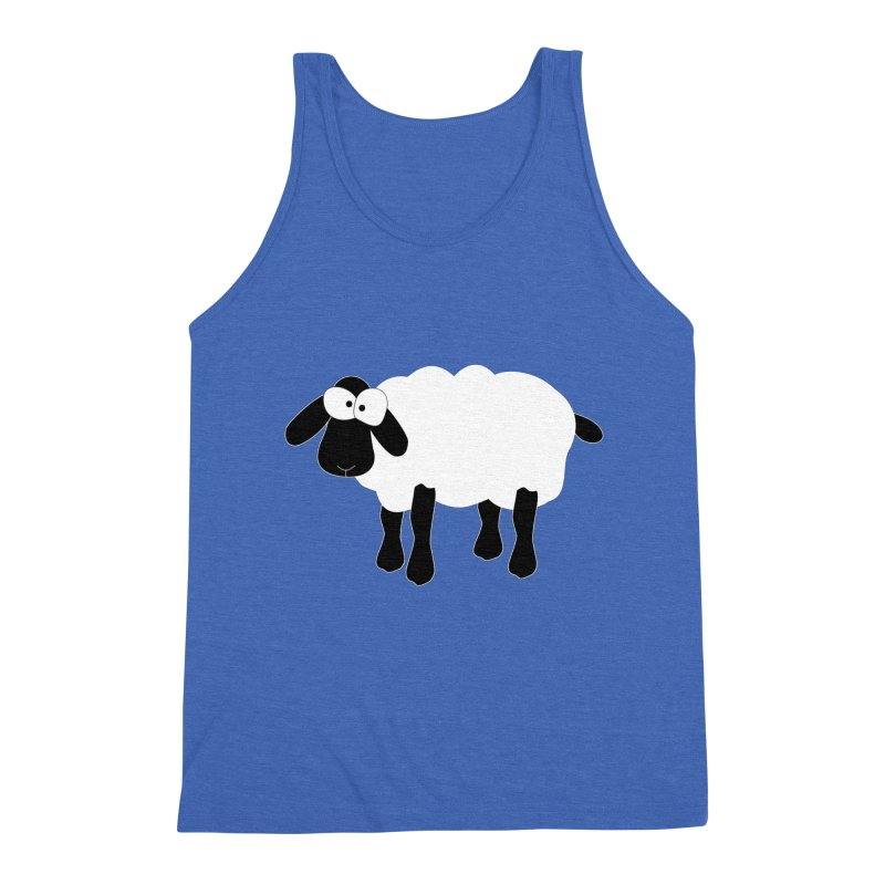 Funny Sheep - for dark fabric Men's Triblend Tank by buxmontweb's Artist Shop