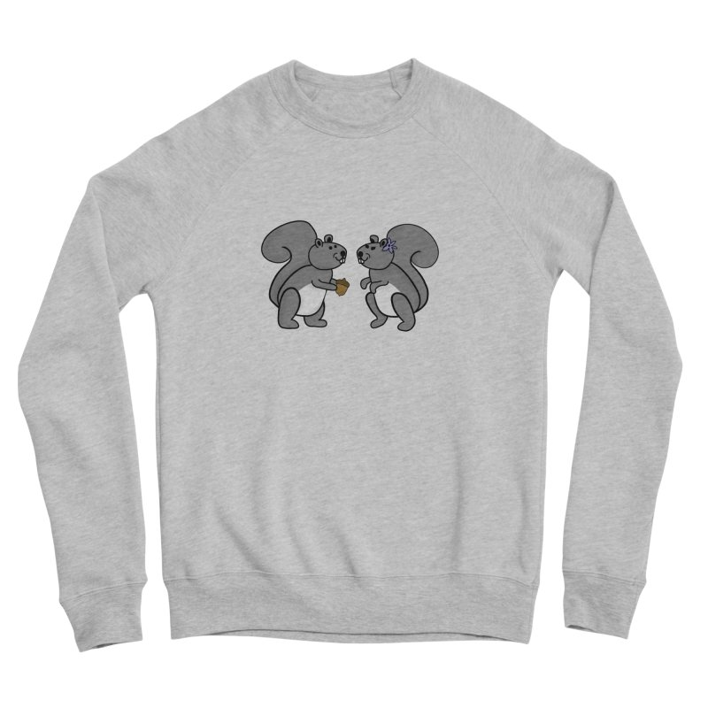 Cute Boy and Girl Squirrels Women's Sponge Fleece Sweatshirt by buxmontweb's Artist Shop