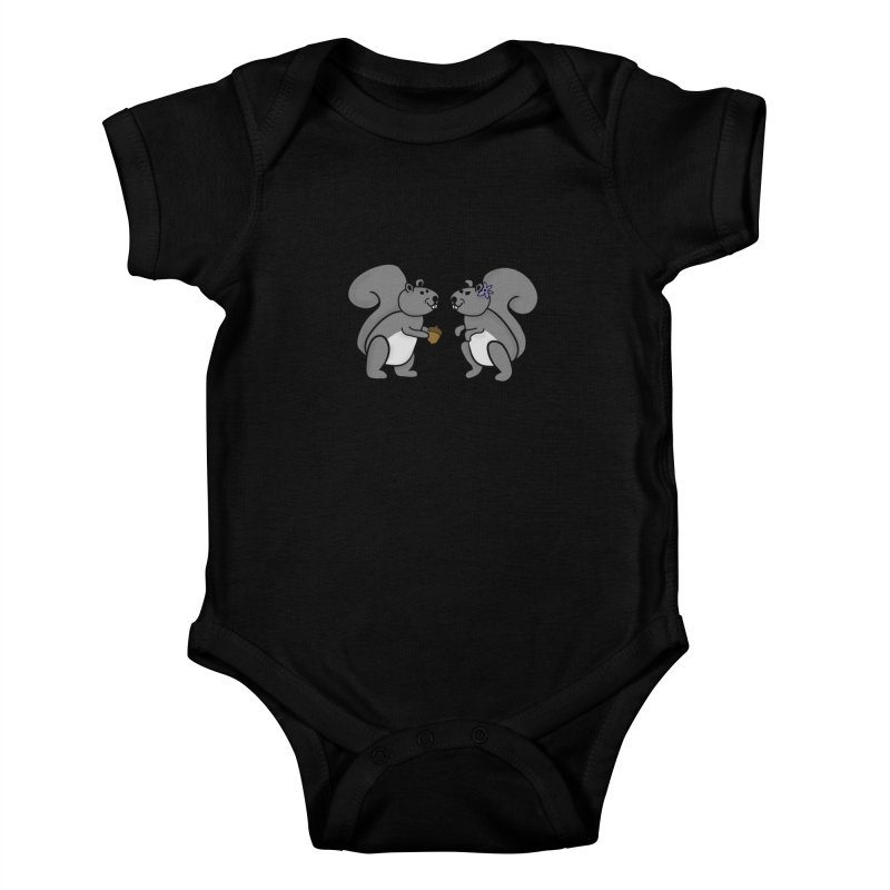 Cute Boy and Girl Squirrels Kids Baby Bodysuit by buxmontweb's Artist Shop