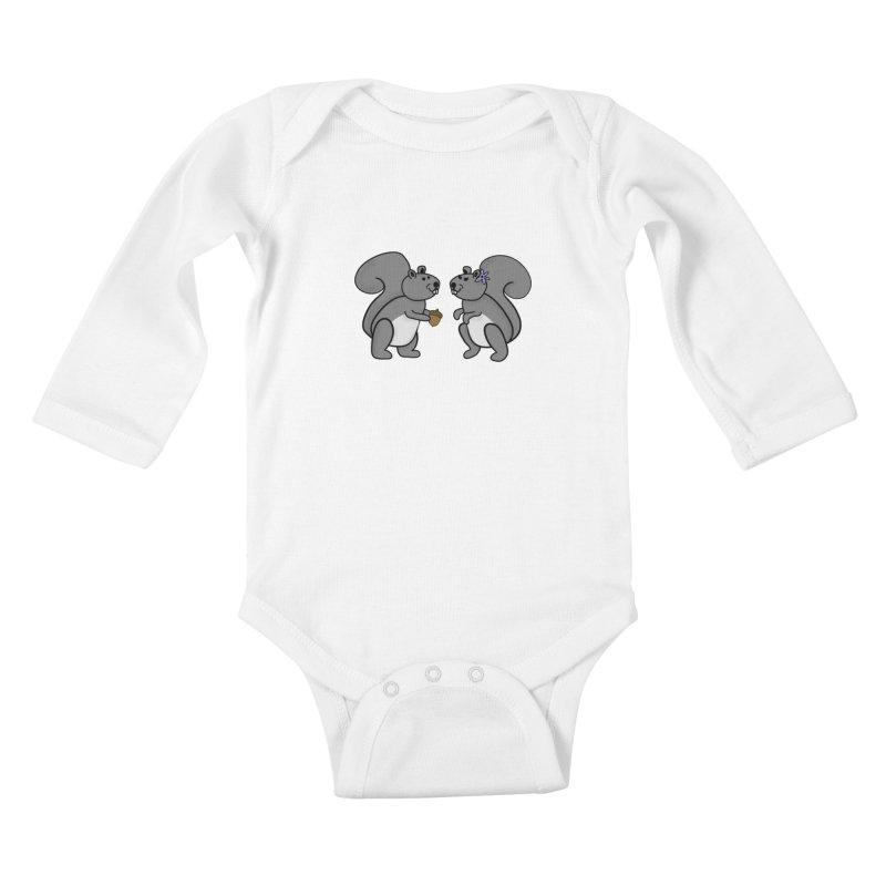 Cute Boy and Girl Squirrels Kids Baby Longsleeve Bodysuit by buxmontweb's Artist Shop