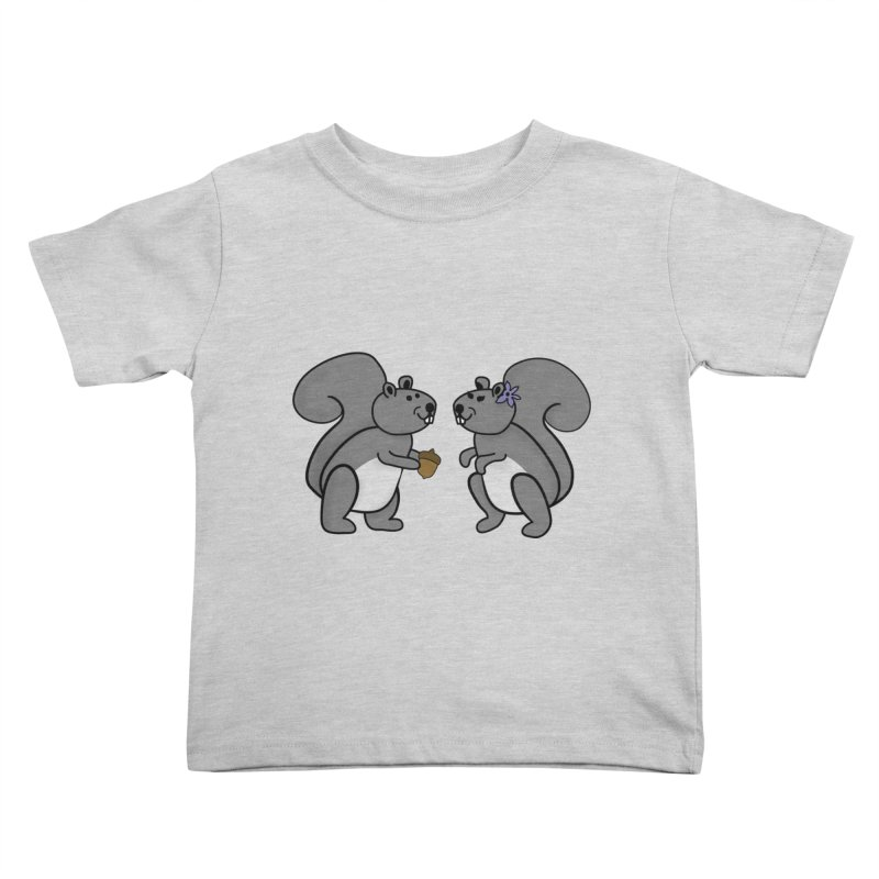 Cute Boy and Girl Squirrels Kids Toddler T-Shirt by buxmontweb's Artist Shop