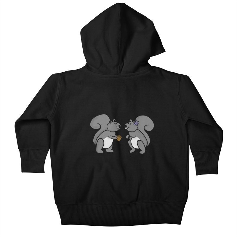 Cute Boy and Girl Squirrels Kids Baby Zip-Up Hoody by buxmontweb's Artist Shop