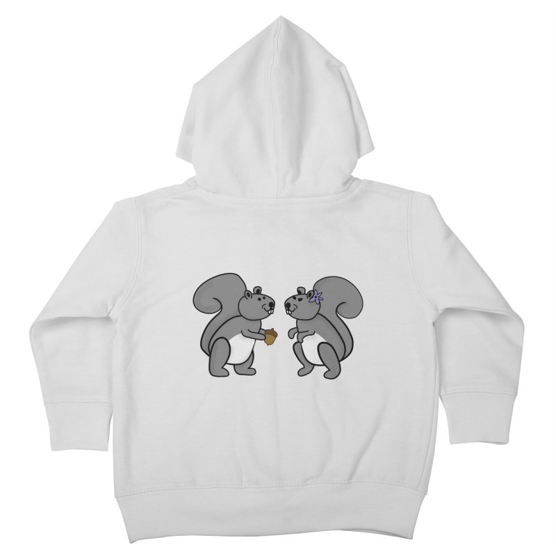 Cute Boy and Girl Squirrels Kids Toddler Zip-Up Hoody by buxmontweb's Artist Shop