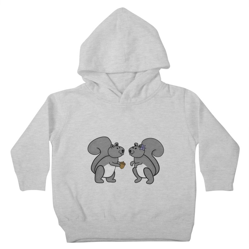Cute Boy and Girl Squirrels Kids Toddler Pullover Hoody by buxmontweb's Artist Shop