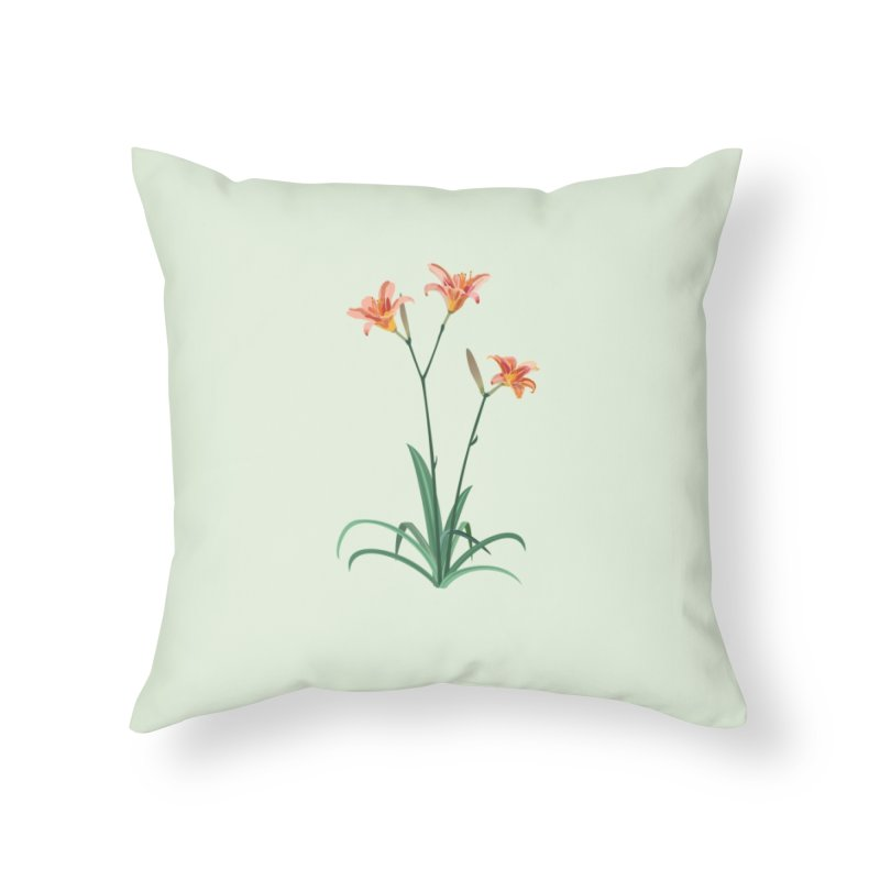 Daylilies - Wildflower Collection Home Throw Pillow by buxmontweb's Artist Shop