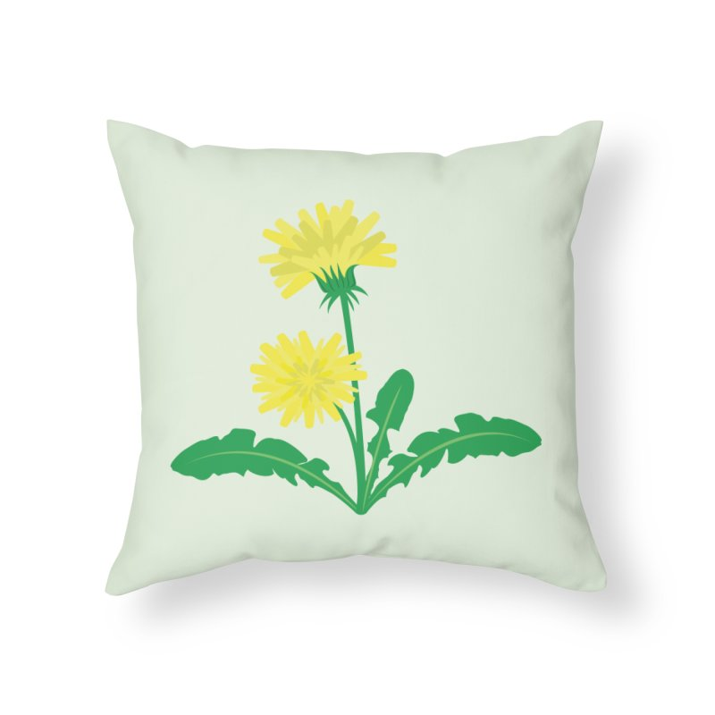 Dandelion - Wildflower Collection Home Throw Pillow by buxmontweb's Artist Shop