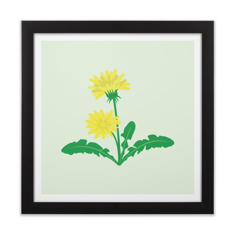 Dandelion - Wildflower Collection Home Framed Fine Art Print by buxmontweb's Artist Shop