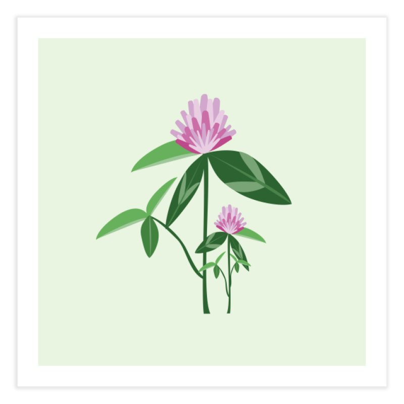 Red Clover - Wildflower Collection Home Fine Art Print by buxmontweb's Artist Shop