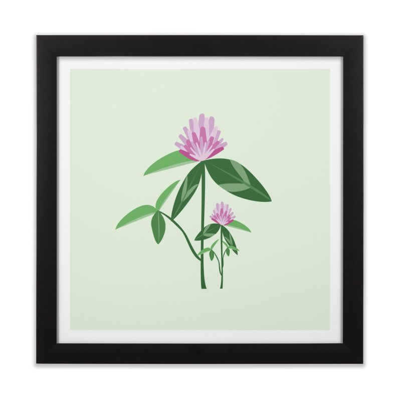 Red Clover - Wildflower Collection Home Framed Fine Art Print by buxmontweb's Artist Shop