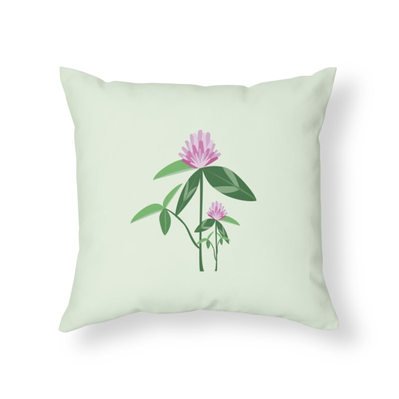 Red Clover - Wildflower Collection Home Throw Pillow by buxmontweb's Artist Shop