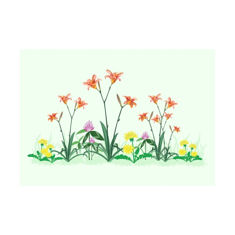 Wildflowers Wall Art Home Stretched Canvas by buxmontweb's Artist Shop