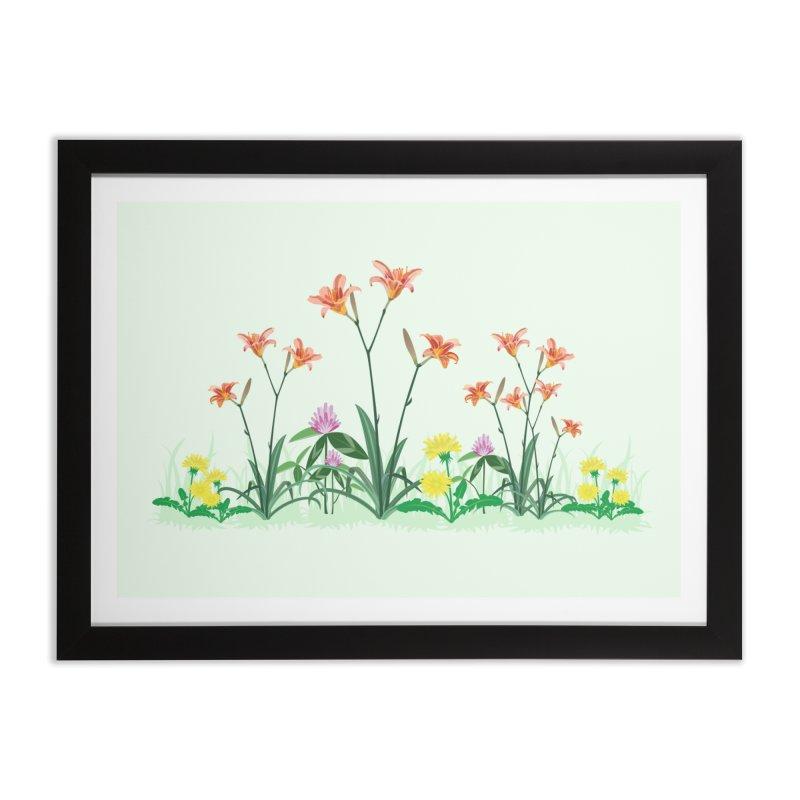 Wildflowers Wall Art Home Framed Fine Art Print by buxmontweb's Artist Shop