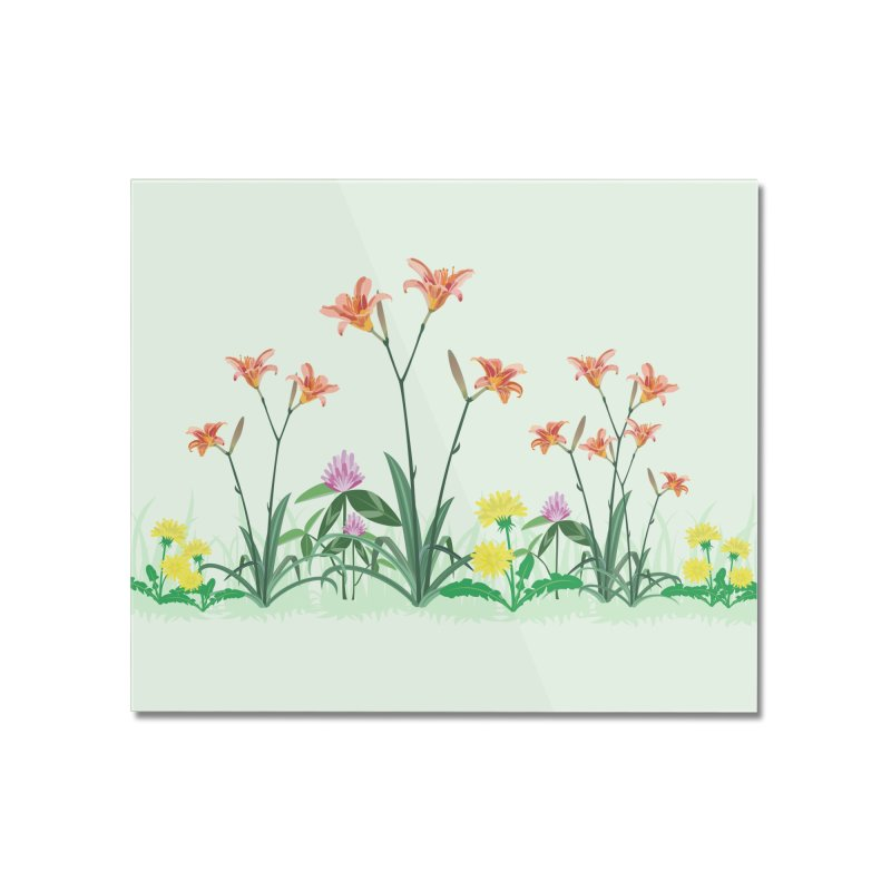 Wildflowers Wall Art Home Mounted Acrylic Print by buxmontweb's Artist Shop