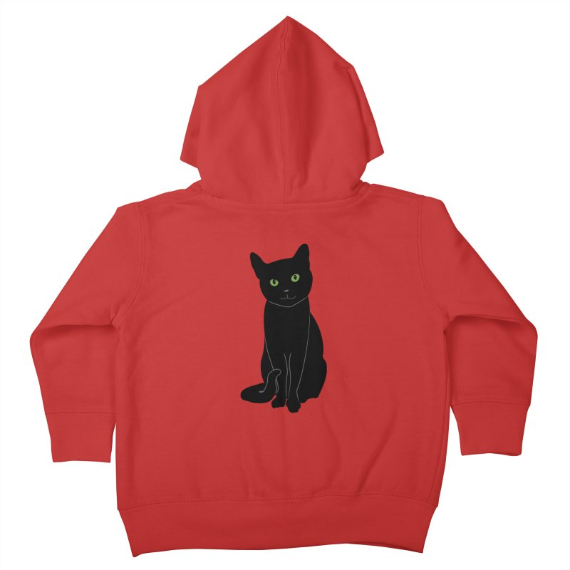 Black Cat with Green Eyes Kids Toddler Zip-Up Hoody by buxmontweb's Artist Shop