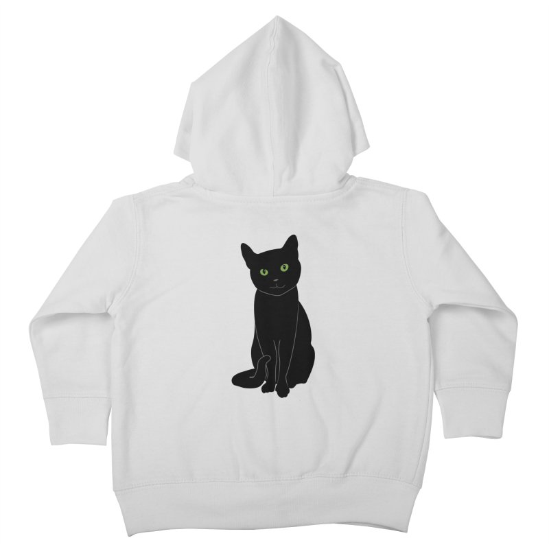 Black Cat with Green Eyes Kids Toddler Zip-Up Hoody by buxmontweb's Artist Shop