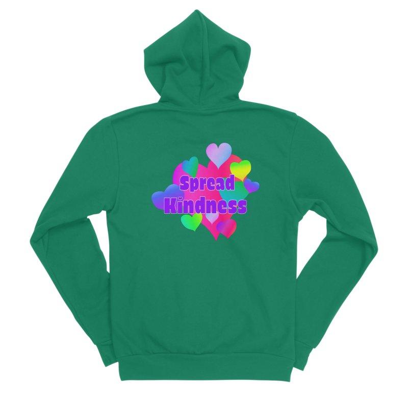 Spread Kindness - Apparel Women's Sponge Fleece Zip-Up Hoody by buxmontweb's Artist Shop