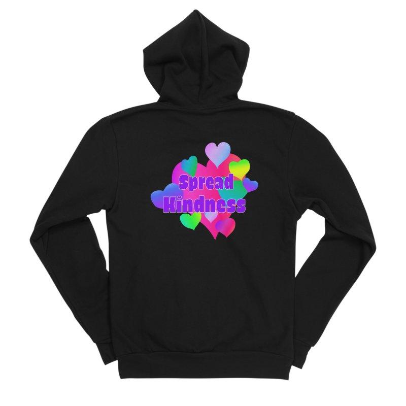 Spread Kindness - Apparel Men's Sponge Fleece Zip-Up Hoody by buxmontweb's Artist Shop