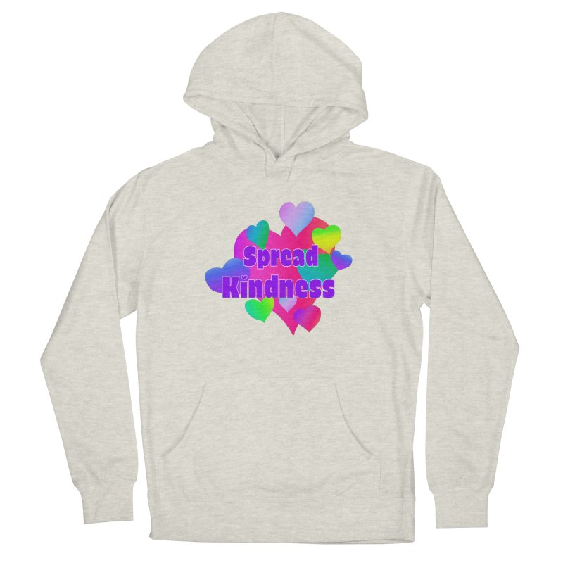 Spread Kindness - Apparel Men's French Terry Pullover Hoody by buxmontweb's Artist Shop