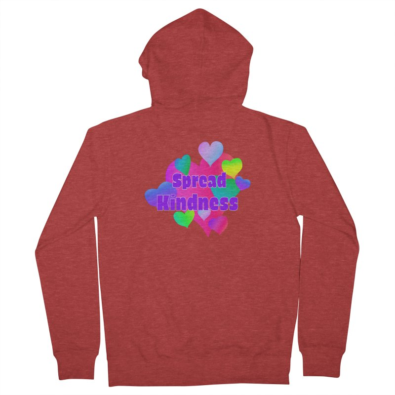 Spread Kindness - Apparel Women's French Terry Zip-Up Hoody by buxmontweb's Artist Shop