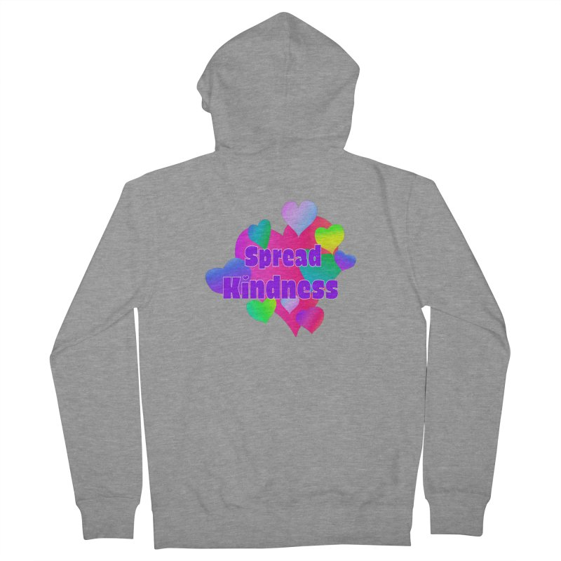 Spread Kindness - Apparel Men's French Terry Zip-Up Hoody by buxmontweb's Artist Shop