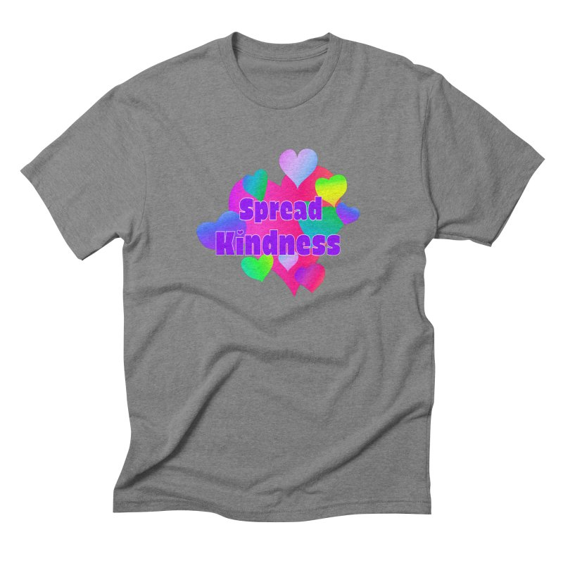 Spread Kindness - Apparel Men's Triblend T-Shirt by buxmontweb's Artist Shop