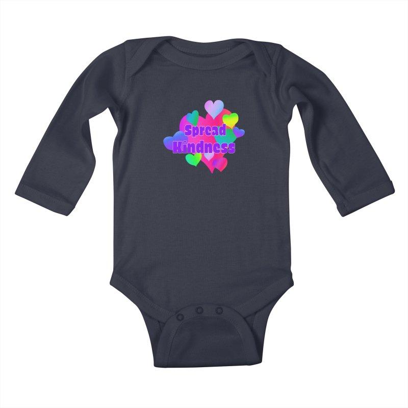 Spread Kindness - Apparel Kids Baby Longsleeve Bodysuit by buxmontweb's Artist Shop