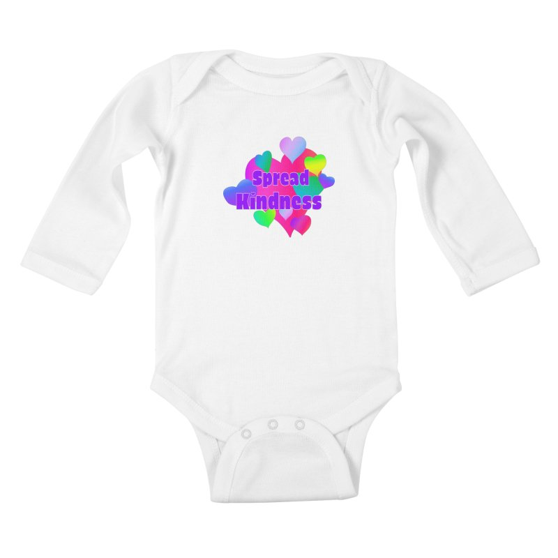 Spread Kindness - Apparel Kids Baby Longsleeve Bodysuit by buxmontweb's Artist Shop